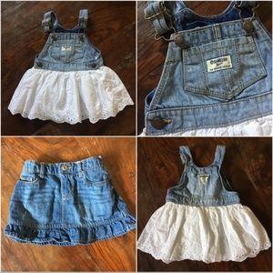 Osh Kosh Overall Dress & Skirt Bundle Sz 18 mo